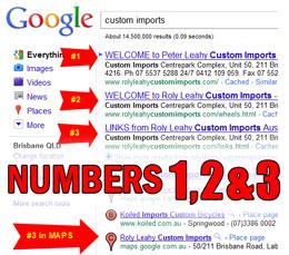 custom imports search engine optimisation